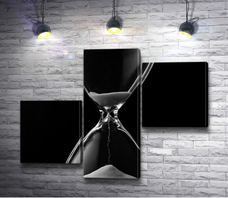 Песочные часы,  черно-белое фото