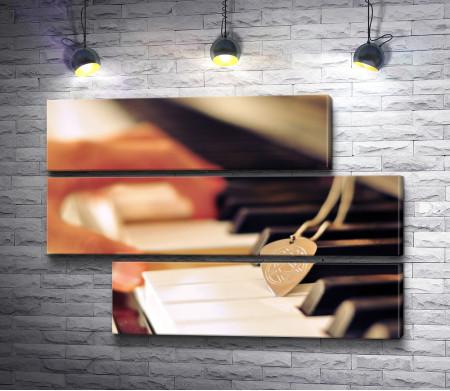 Клавиши пианино и рука