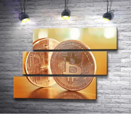 Металлическая валюта Биткоин