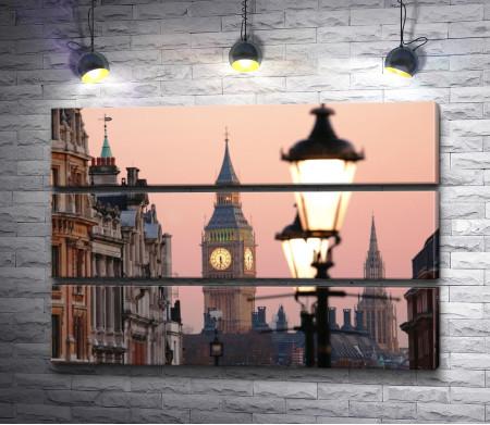 Фонарь на фоне лондонского Биг Бена