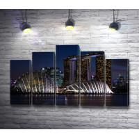 Ночной вид на Марина Бей, Сингапур
