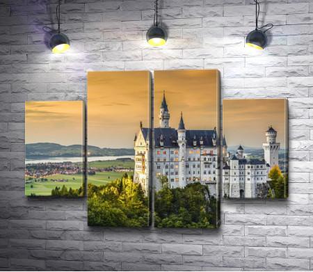 Романтичный замок Нойшванштайн, Швангау, Германия