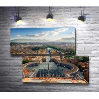 Панорамный вид с Собора Святого Петра на Рим, Италия