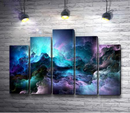 Разноцветные мрачные облака