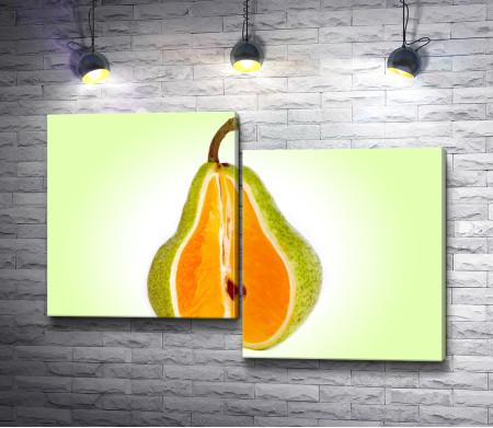 Груша с апельсином внутри