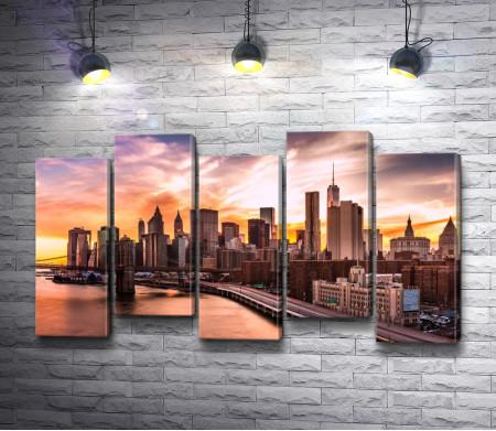 Нью-Йорк во время заката