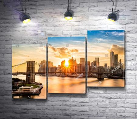 Рассвет в Манхэттене, Нью-Йорк
