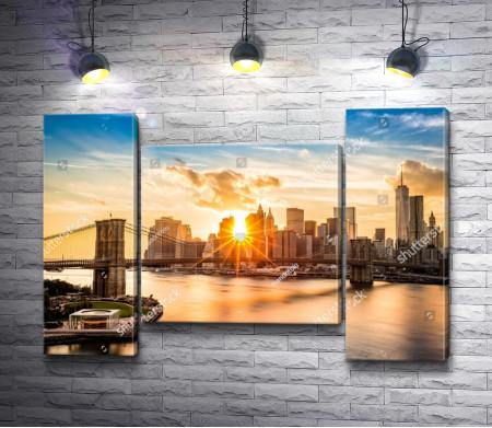 Рассвет в Манхэттене, США