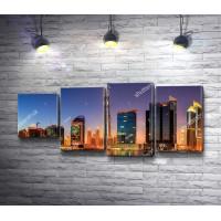 Панорамный вид на окрестность Бизнес-Бэй, Дубай