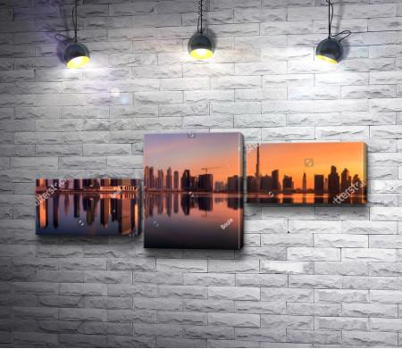 Обзорный вид на окрестность Бизнес-Бэй, Дубай