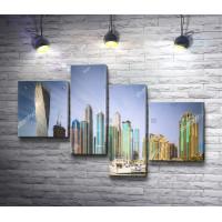 Панорамный вид на небоскребы Дубай