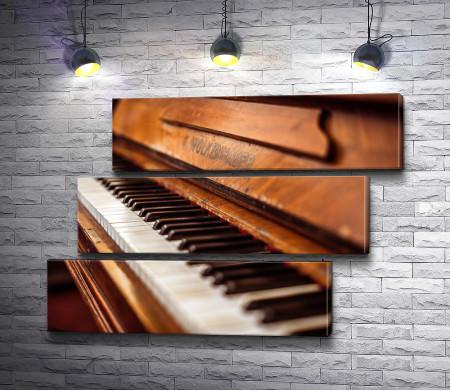 Старое пианино, макросъемка