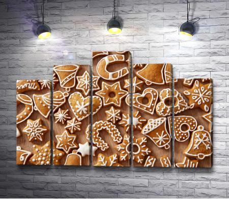 Рождественское фигурное печенье