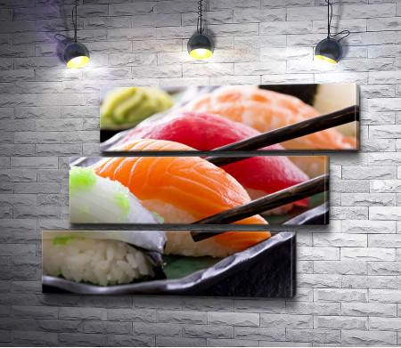 Суши с красной рыбой