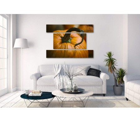 Оранжевая тыква. Макросъемка