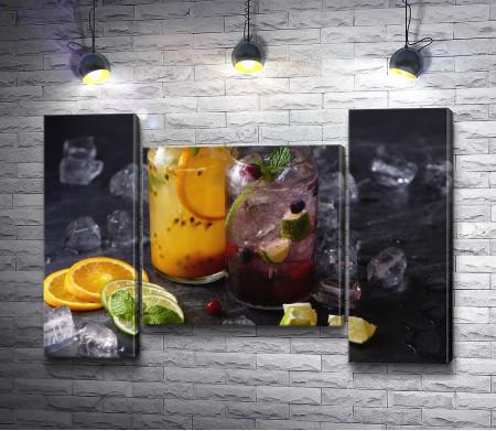 Лимонады с цитрусами и ягодами