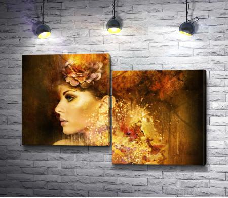 Девушка. Осенний портрет