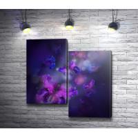 Пурпурные бабочки из лепестков
