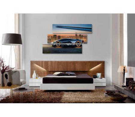 Автомобиль Lamborghini Terzo на фоне мегаполиса