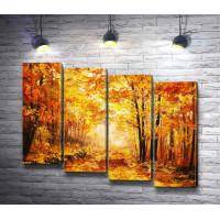 Осенняя аллея деревьев