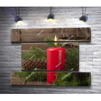 Рождественский натюрморт со свечой