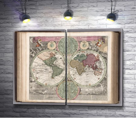 Карта мира в книге