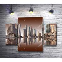 Панорамный вид на район Марина, Дубай