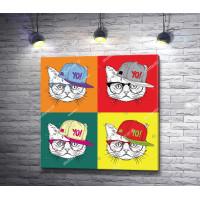 Четыре кота в кепке