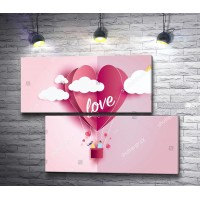 Влюбленные на воздушном шаре