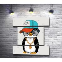 Пингвин хип-хопер в кепке