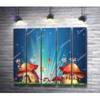 Сказочные дома-грибы с феями
