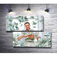 Мужчина среди денег
