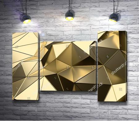 Золотая фигура из треугольников