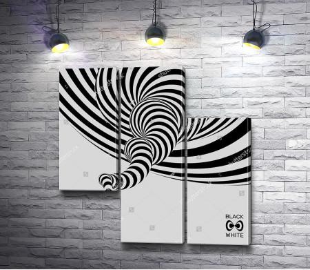 Черно-белая оптическая иллюзия
