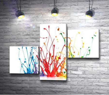 Разноцветные брызги краски