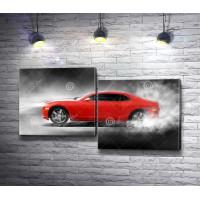 Красный спортивный автомобиль