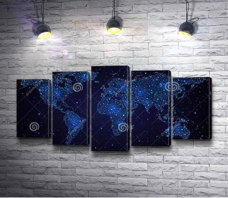 Ночная карта мира