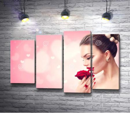 Девушка и роза