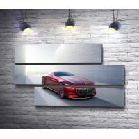 Красный Mercedes-Maybach Vision 6 в лучах солнца
