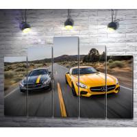 Авто Mercedes-AMG GT на автомобильном шоу