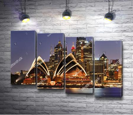 Вид на Сиднейский оперный театр, Австралия