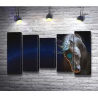 Лошадь на фоне звездного неба