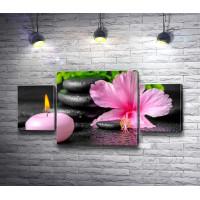 Орхидея и свеча