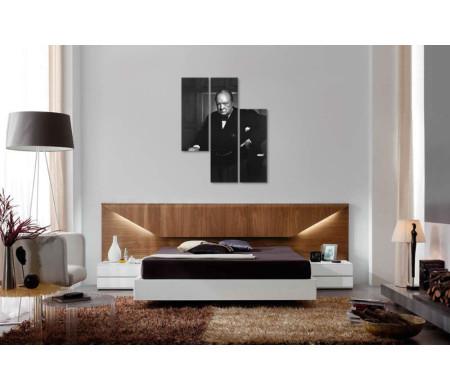 Уинстон Черчилль, черно-белый портрет