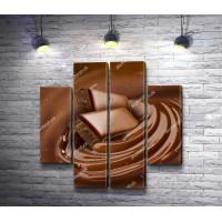 Кусочки в топленом шоколаде