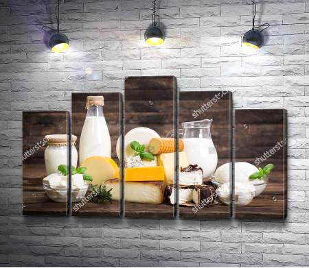 Молочные продукты, натюрморт