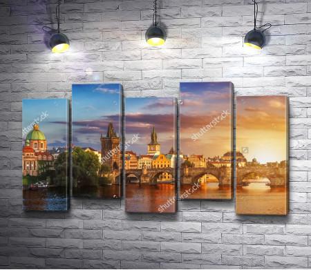 Пражский Град на закате, Прага, Чехия