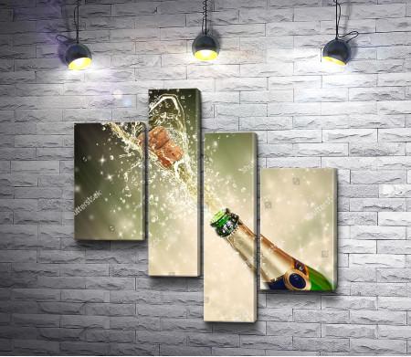 Праздничные брызги шампанского