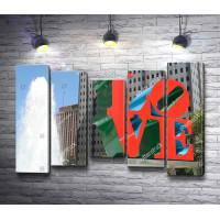Фонтан и скульптура в Love парке, Филадельфия