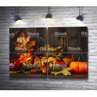 Осенний натюрморт с тыквами